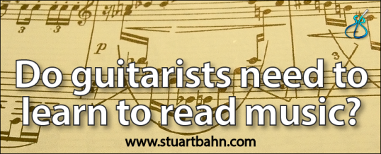 Do guitarists need to learn to read music?