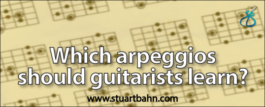 Which arpeggios should guitarists learn?